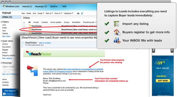 Turn any listing into leads quickly